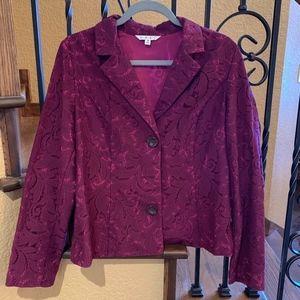 Cabi Lace Frolic Plumberry Jacket/Blazer